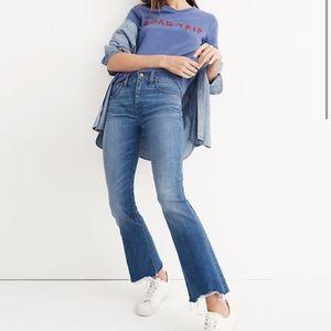 NEW Madewell Cali Boot Cut Jeans Deconstructed Hem